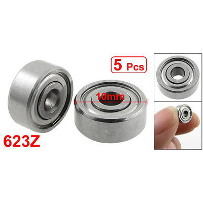 5 pcs Double Sealed 3 x 10 x 4mm Deep Groove Ball Bearings 623Z LW SZUS