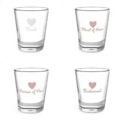 New Wedding Shot Glass Bridal Party Favour Gift