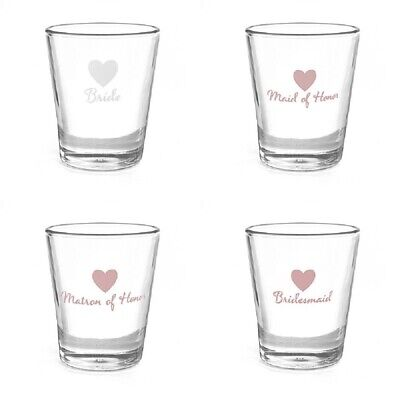 Wedding Shot Glass Bridal Party Favour Gift Decorations Supplies