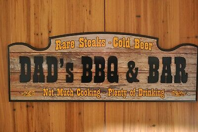Dads BBQ & Bar Sign, Every man needs a bar sign, great Christmas gift