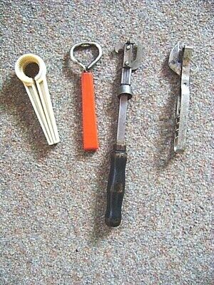 VINTAGE Lot of 4 BOTTLE / CAN OPENERS King & Clean Cut Instant Collection!