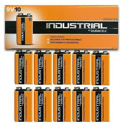 10 Duracell 9V PP3 Industrial Procell Batteries Smoke Alarm LR22 E-BLOC MN1604