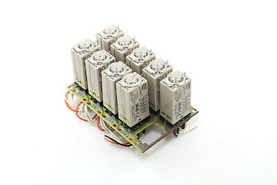 Lot of 9 Omron Model H3Y-4 Timer with Socket
