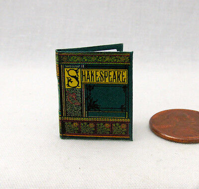 SHAKESPEARE Miniature Book Dollhouse 1:12 Scale Readable Book