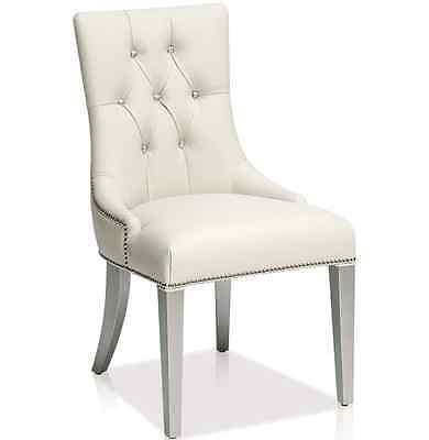 KR-809 Accent Leather Dining Chair in Ice White