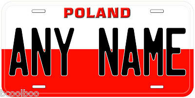Poland Flag Any Name Novelty Car License Plate