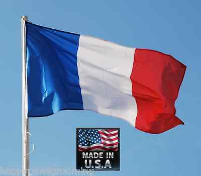 3x5 FRANCE FRENCH Francaise Republic In/Outdoor SuperPoly FLAG BANNER*USA Made