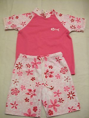 girls pink sun suit shorts and top 28 chest 22 waste DEFECT (K60.10)