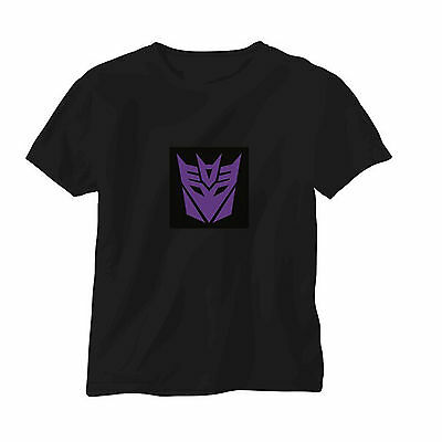 Sound Activated LED T-Shirt Music Disco Transformers Glow in the dark