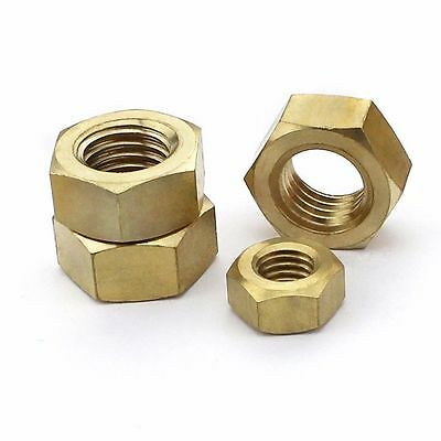 Brass Hex Nuts Machine Screw M1.4 M1.6 M2 M2.5 M3 M4 M5 M6 M8 M10 M12 M14 M20