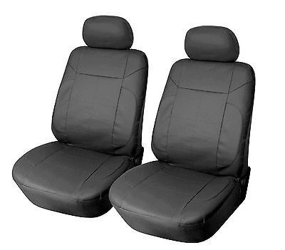 Leather Like 2 Front Car Seat Covers for Volkswagen 153 Black