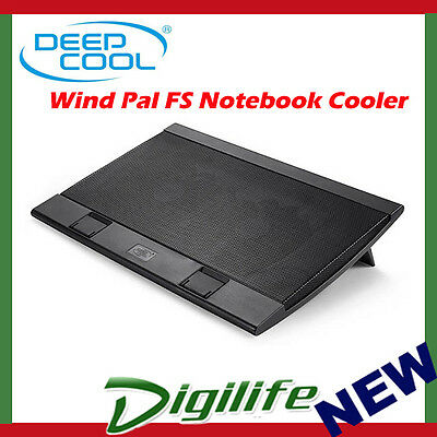 "DeepCool WIND PAL FS Wind Pal FS Notebook Cooler up to 17"" Laptop windpal"