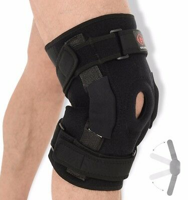 Gallant Neoprene Hinged Knee Brace Patella Support Stabilizing Strap Medical USE