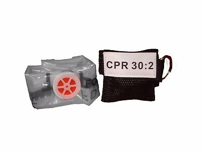 1 Black Facial Shield CPR Mask in Pocket Keychain