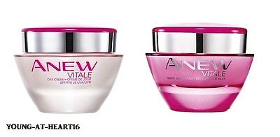 Avon Anew Vitale 25+ Day Or Night Face Cream - Early Signs Of Ageing~ Free P&p