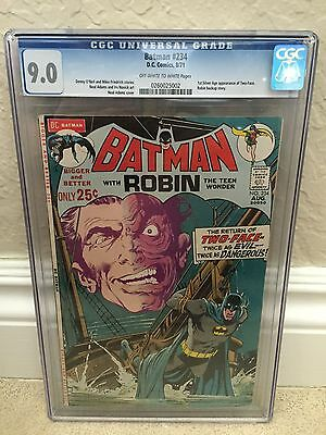 Batman #234 Cgc 9.0 Vf/nm 1St Silver Age Of Two-Face (Id 6531)