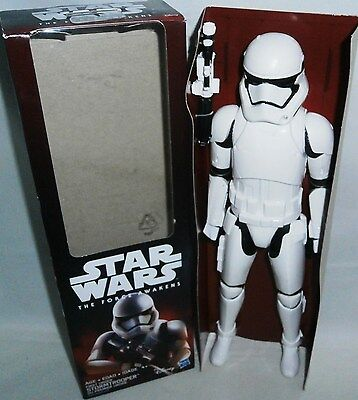 """STAR WARS The Force Awakens Figurine First Order STORMTROOPER  11"""" Tall"""