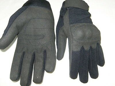 Military GLOVES TACTICAL Shooting Airsoft HARD KNUCKLES ACU BLACK SIZE: S,M,L,XL