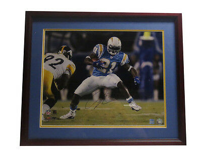 LaDainian Tomlinson Autographed Chargers Signed Framed 16x20 Football Photo NSD
