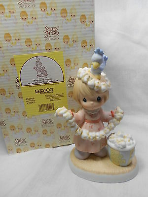 """Precious Moment Figurine  """" Things are Poppin at Our House This Christmas """""""
