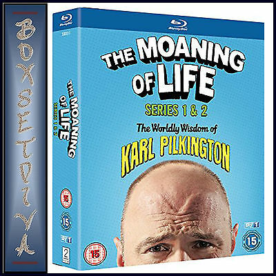 The Moaning Of Life - Complete Series 1 & 2 *brand New Blu-Ray***