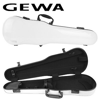 GEWA Air 1.7 Shaped Violin Case for 4/4 Full Size Violin White Gloss