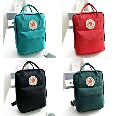 Women Fashion Canvas Badge Backpack Travel Rucksack Bag School Bookbag Handbag
