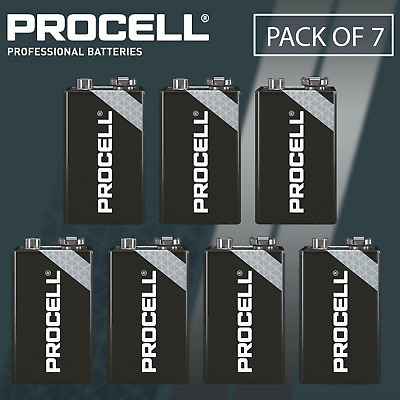 6 x Duracell 9V PP3 Industrial Procell Batteries, Smoke Alarm (LR22 BLOC MN1604)