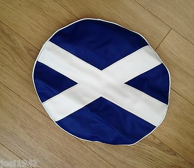Lambretta  Spare Wheel Cover Scottish Flag - Scotland Flag Logo. 10 Inch
