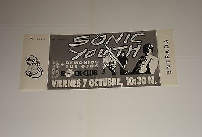 SONIC YOUTH Live Concert gig ticket Rock Club, Madrid Spain 7 October 1988 NEW!