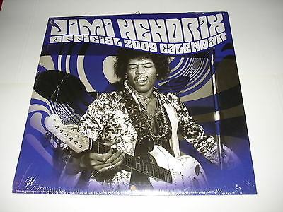 Jimi Hendrix / Official Wall Calendar 2009 - New & Sealed!!!