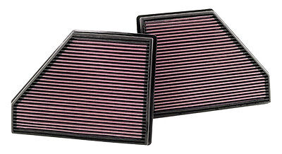 K&n High Flow Air Filter X2 For Bmw X5 4.8 V8 2007-2010 33-2407