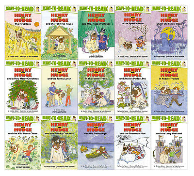 The Henry and Mudge Collection Set 1-15 Childrens Books Series By Cynthia Rylant