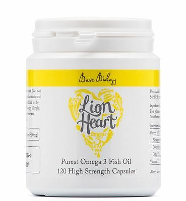 Bare Biology Lion Heart Purest Omega 3 Fish Oil - 120 Capsules