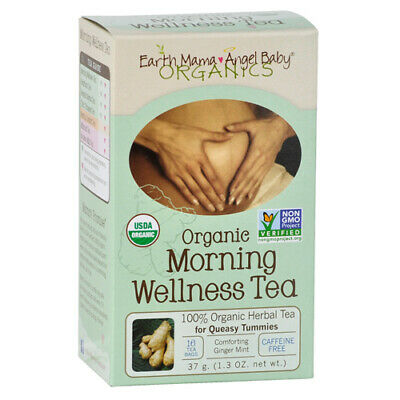 Earth Mama Angel Baby Morning Wellness Tea - 16 Tea Bags X 6