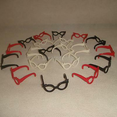 20 pcs / lot Doll Accessories Fashion Spectacles Set Glasses for Barbie Doll