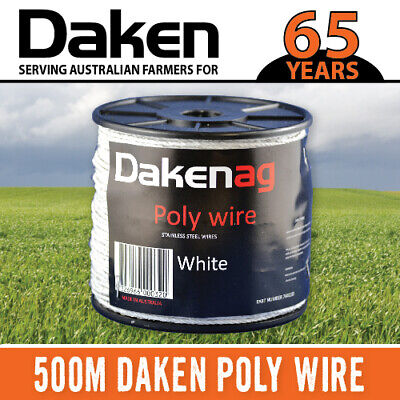 DAKEN 500M Electric Fence Poly Wire 2mm Diameter ---MADE IN AUSTRALIA---
