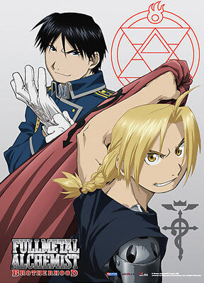 *NEW* Fullmetal Alchemist Brotherhood: Roy / Edward Wall Scroll by GE Animation