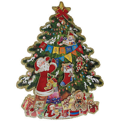 dotcomgiftshop KITSCH CHRISTMAS TREE DECORATION. CARD WALL DECORATION 3D PAPER