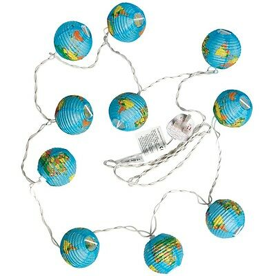 dotcomgiftshop WORLD MAP LIGHTS WITH BRITISH STANDARD 3 PIN PLUG