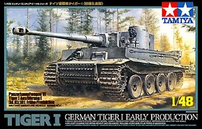 Tamiya 32504 1/48 Scale Military Model Kit German Tiger I Early Production Tank