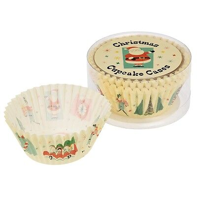 dotcomgiftshop SET OF 50 FESTIVE FAMILY CHRISTMAS CUPCAKE MUFFIN CAKE CASES
