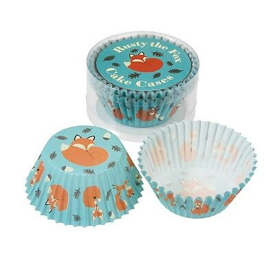 dotcomgiftshop SET OF 50 RUSTY THE FOX PAPER CUPCAKE CASES MUFFIN CAKE CASES