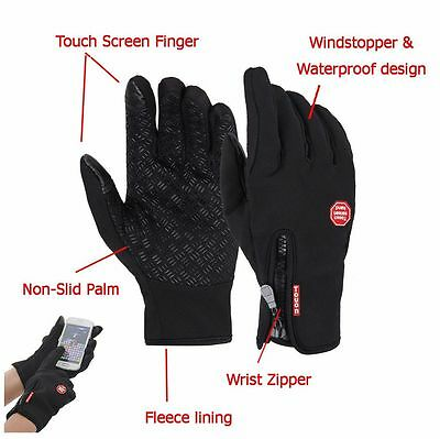 Mens Womens Smartphone Touch Screen Texting Driving Gloves Fleece Warm S-2XL