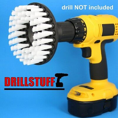 Softer Bristle Scrub Brush 13cm Round with Power Drill Attachment. Shipping is F
