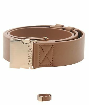 OCCASIONE Kangol Metal Clasp Belt Ladies Tan