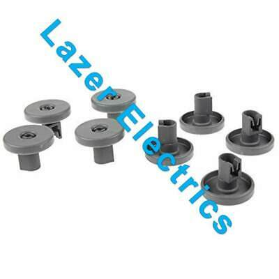 8 x Dishwasher Wheels LOWER Basket grey for ELECTROLUX ESL63010