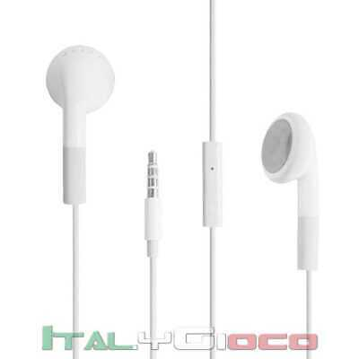 CUFFIE STEREO AURICOLARI HEADSET JACK 3,5mm MICROFONO REMOTE IPHONE Huawei, LG