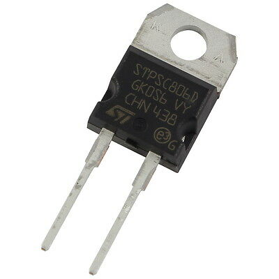 STM STPSC806D SiC-Diode 8A 600V Silicon Carbide Schottky TO-220AC 856066