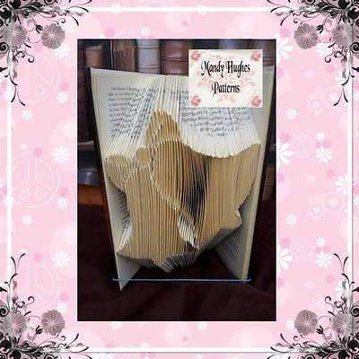 Christmas Candle Folded Book Art Folding PATTERN ONLY #507